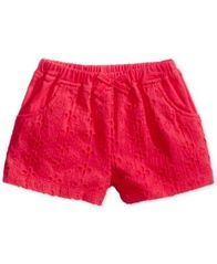 Image of First Impressions Eyelet Cotton Shorts, Baby Girls (0-24 months), Created for Macy's