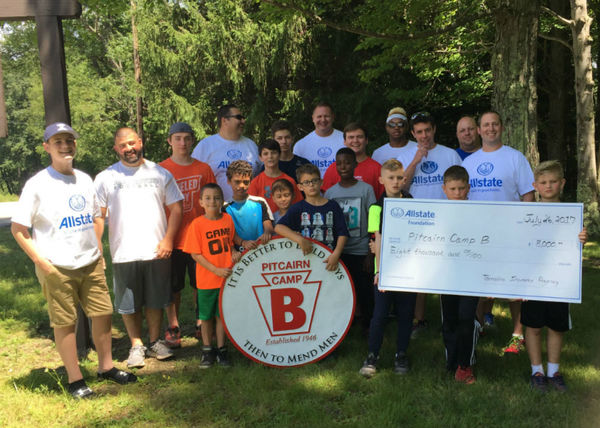 Edward Zdobinski - Allstate Foundation Helping Hands Grant for Pitcairn Camp B