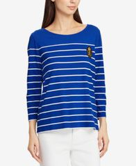 Image of Lauren Ralph Lauren Crest Striped Top