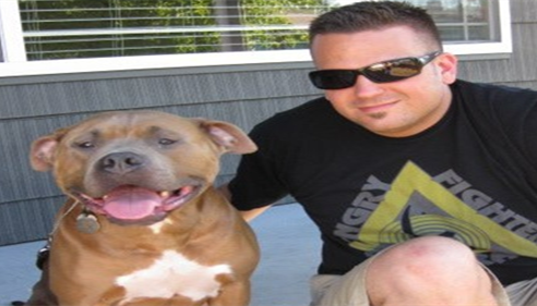 My dog Kingston and I :) Pit Bull Friendly Insurance
