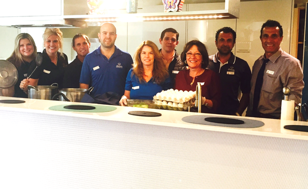Frank Tinelli - Frank volunteered at the Ronald McDonald House to prepare a meal for 80 residents!