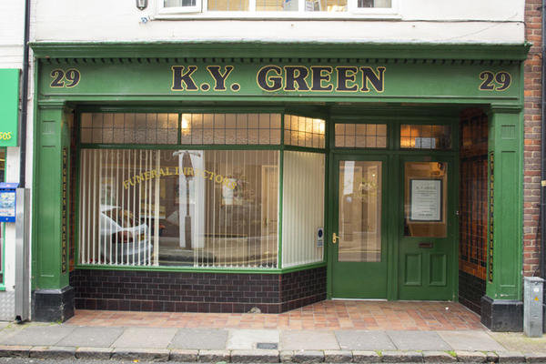 K Y Green Funeral Directors on Cambridge Street, Aylesbury.