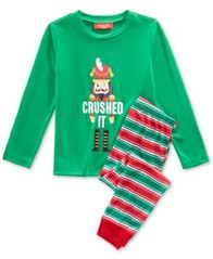 Image of Matching Family Pajamas Crushed It Stripe Pajama Set, Available in Toddlers and Kids, Created For Ma