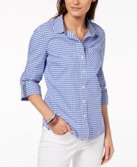 Image of Tommy Hilfiger Cotton Printed Utility Shirt, Created for Macy's