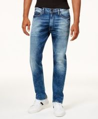 Image of Sean John Men's Athlete Relaxed Tapered-Fit Stretch Jeans