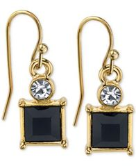 Image of 2028 Square Stone and Crystal Drop Earrings, a Macy's Exclusive Style