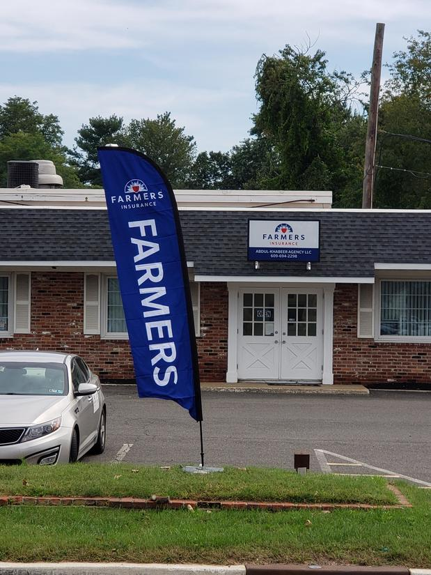 Farmers flag outside of agency