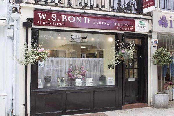 W S Bond Funeral Directors in Chiswick, London.