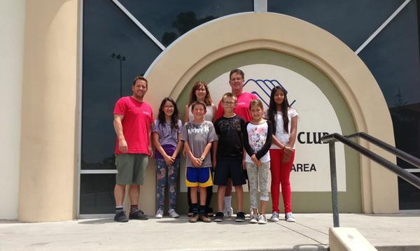 Giving a check to the Boys and Girls club of San Clemente