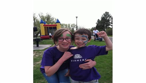 My daughter Adrienne and son Nicholas at March of Dimes 5K run, May 2013.