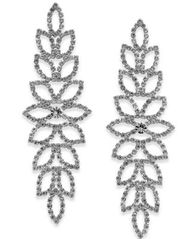 Image of Thalia Sodi Pavé Leaf Drop Earrings, Created for Macy's