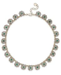 Image of Charter Club Gold-Tone Blue & Clear Crystal Necklace, Created for Macy's