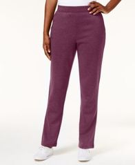Image of Karen Scott Petite Fleece Pull-On Pants, Created for Macy's