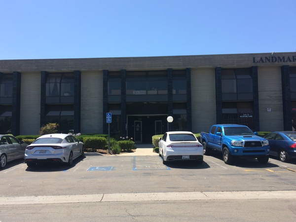 Agency office with cars outside
