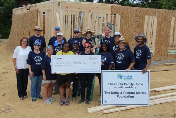 Eddie Grimes - Habitat for Humanity Receives Allstate Foundation Helping Hands Grant