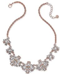 Image of Charter Club Rose Gold-Tone Floral Crystal Necklace, Created for Macy's