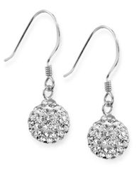 Image of Unwritten Sterling Silver Earrings, Crystal Pave Drop Earrings