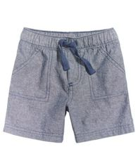 Image of First Impressions Woven Cotton Shorts, Baby Boys, Created for Macy's