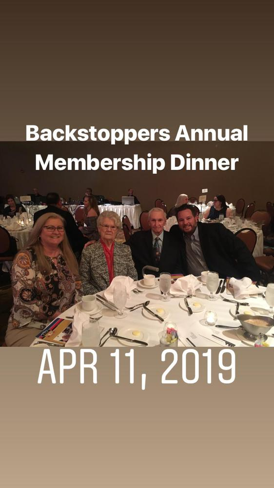 2019 Backstoppers Annual Membership dinner with my grandparents and aunt