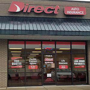 Front of Direct Auto store at 7146 East Independence Boulevard, Charlotte