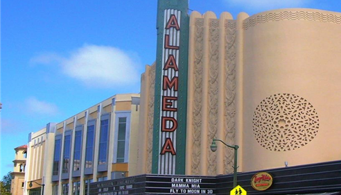 Our office is right across the street from the Alameda Theater.