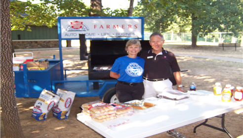 Enjoyed passing out food during the Run for Veterans Event in Fayetteville, AR.