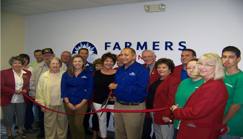 Our Ribbon Cutting Ceremony at our agency in Harrisonville.
