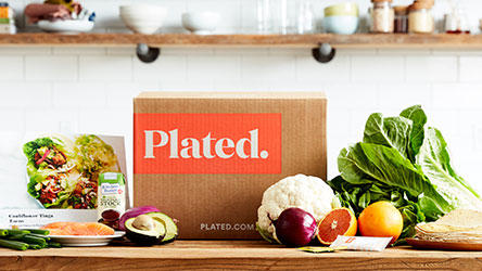 Plated - Fresh fruits and vegetables