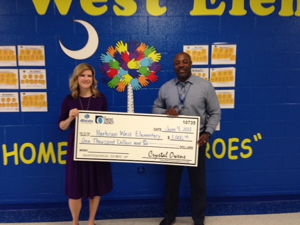 The Owens Agency, LLC - Harbison West Elementary Receives Allstate Foundation Helping Hands Grant