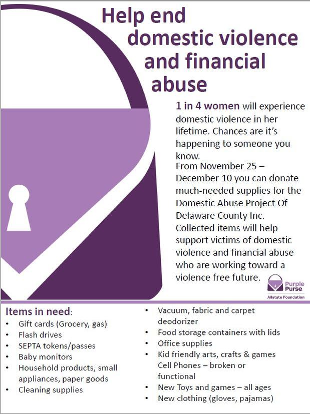 Jody Davies - We're Collecting Supplies to Support Domestic Abuse Project (DAP)