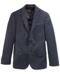 Image of Lauren Ralph Lauren Solid Navy Suit Jacket, Big Boys