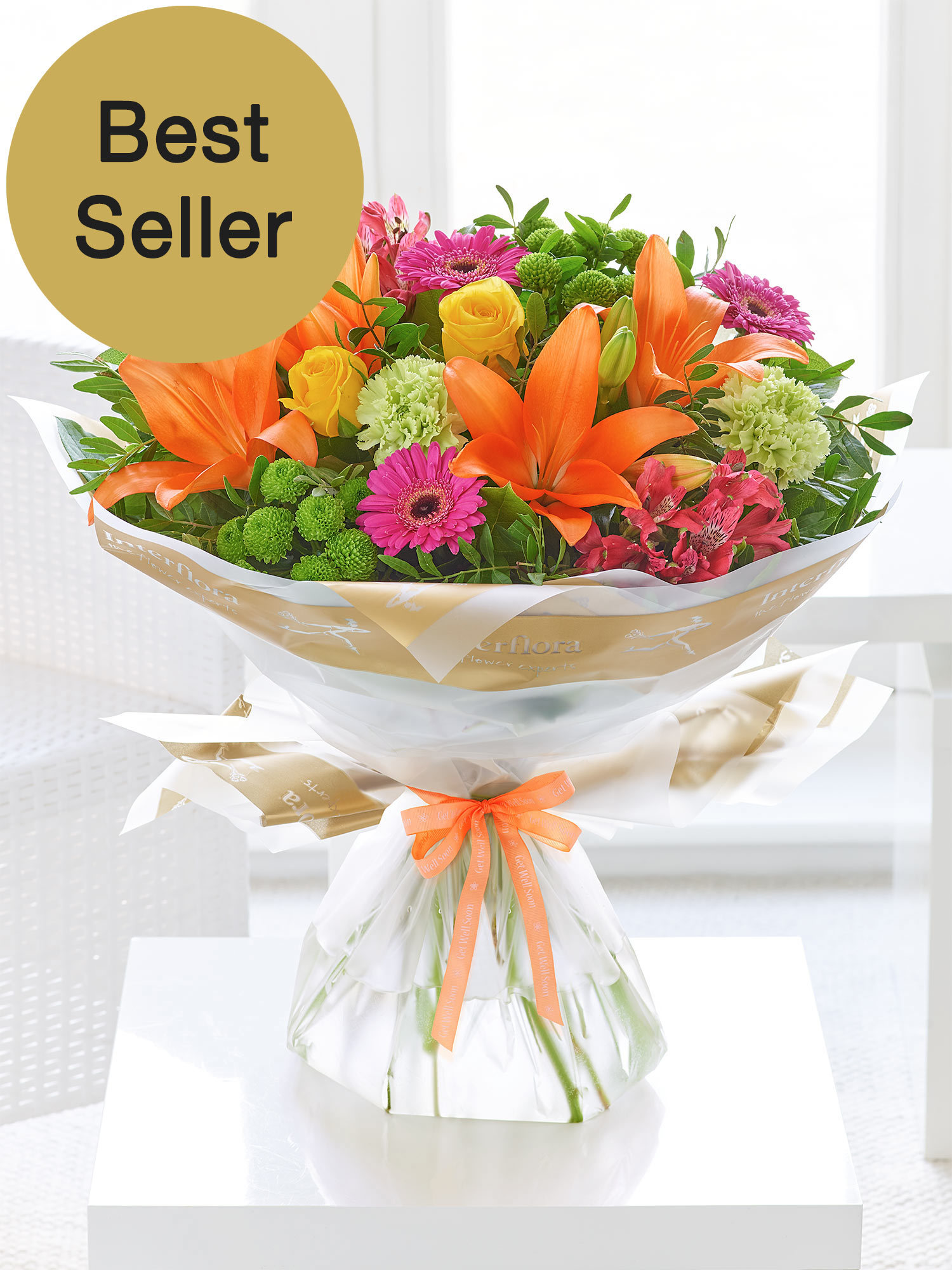 Image of Get well Vibrant Hand-tied