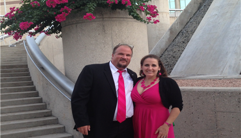 My wife and I at the Championship meeting in San Antonio, TX in July 2014.
