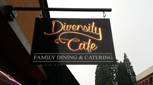 A logo for Diversity Cafe
