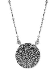 Image of Lucky Brand Necklace, Silver-Tone Pave Crystal Necklace