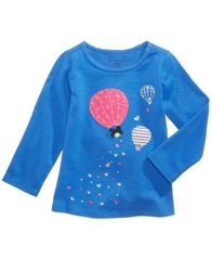 Image of First Impressions Balloon-Print Long-Sleeve T-Shirt, Baby Girls, Created for Macy's