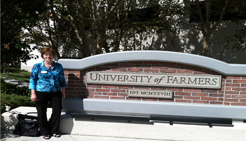 Karen Caldwell at Farmers University.