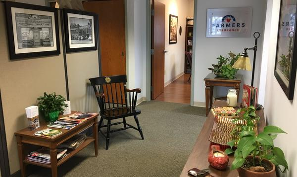A hallway inside of Agent Joyce Felder's office.