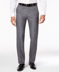 Image of Alfani Men's Stretch Performance Solid Slim-Fit Pants, Created for Macy's