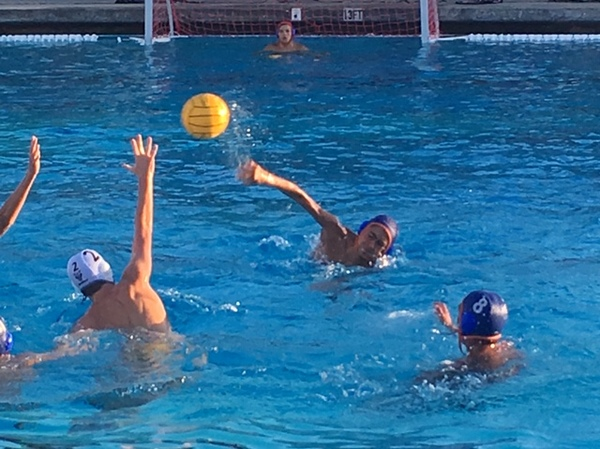 Photo of a Westlake High School water polo match.