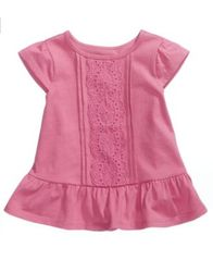 Image of First Impressions Eyelet Cotton T-Shirt, Baby Girls, Created for Macy's