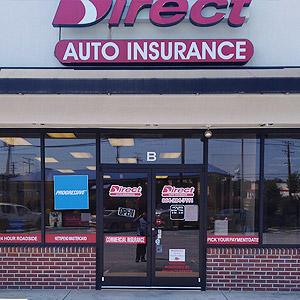 Front of Direct Auto store at 810 East Main Street, Laurens