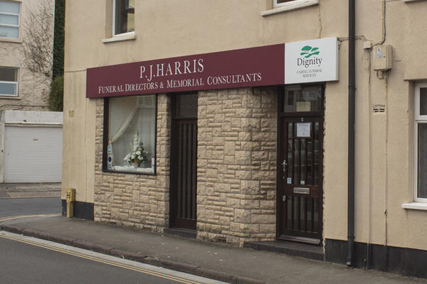 P J Harris Funeral Directors in Burnham on Sea, Somerset.