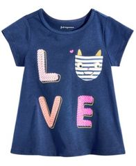 Image of First Impressions Baby Girls Graphic-Print Pocket Cotton T-Shirt, Created for Macy's
