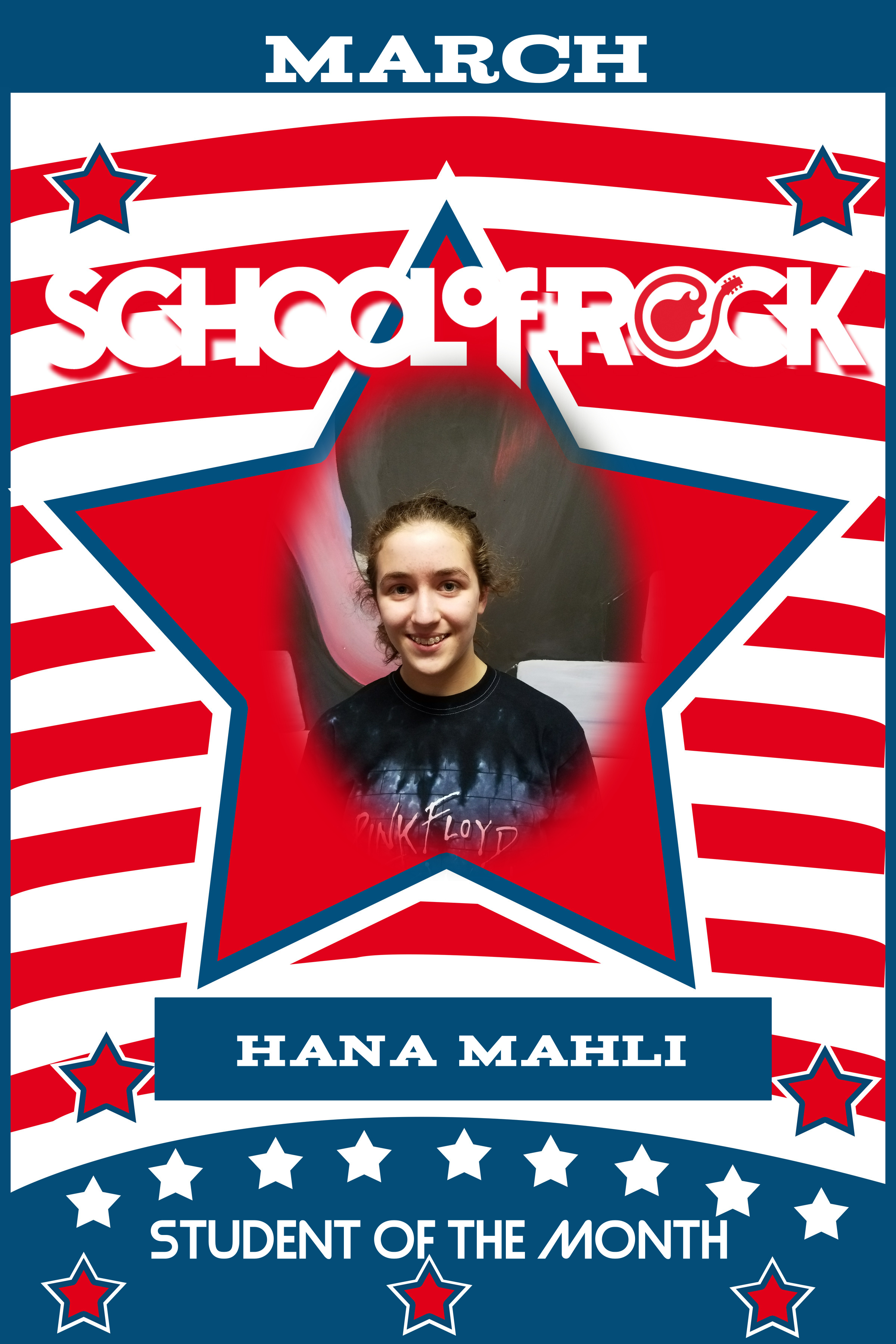 Image of March Student of the Month