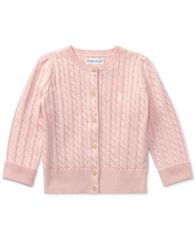 Image of Ralph Lauren Baby Girls' Mini Cable Cardigan