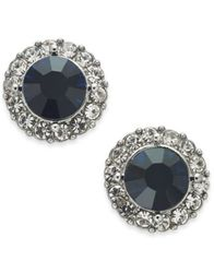 Image of Charter Club Gold-Tone Pavé & Stone Halo Stud Earrings, Created for Macy's