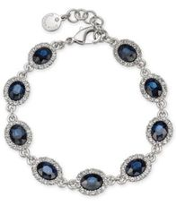 Image of Charter Club Silver-Tone Stone and Crystal Link Bracelet, Created for Macy's