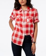 Image of Tommy Hilfiger Short-Sleeve Cotton Shirt