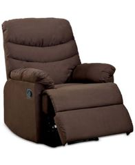 Image of Jerrie Microfiber Recliner, Quick Ship